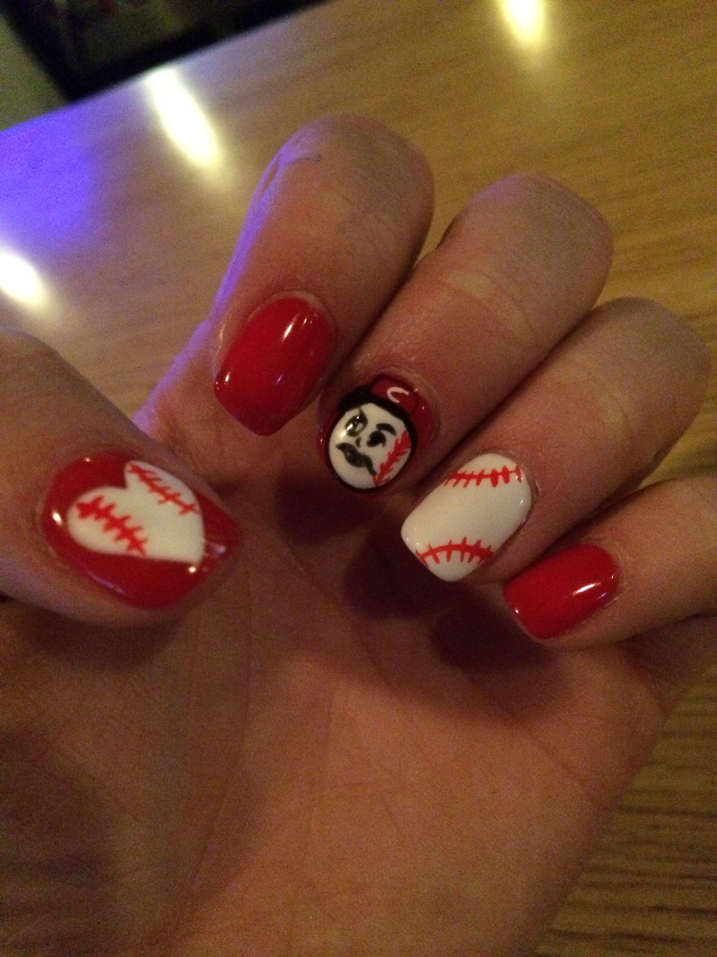Cincinnati Reds Nails Baseball Nail Designs Art