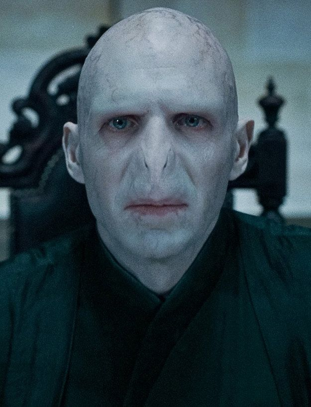 Ralph Fiennes Was Already Pretty Terrifying As Lord Voldemort But He Would Have Been Even Scarier If He Had Had Book Voldemort S Livid Scarlet Eyes Harry Potter Characters Harry Potter Voldemort Voldemort