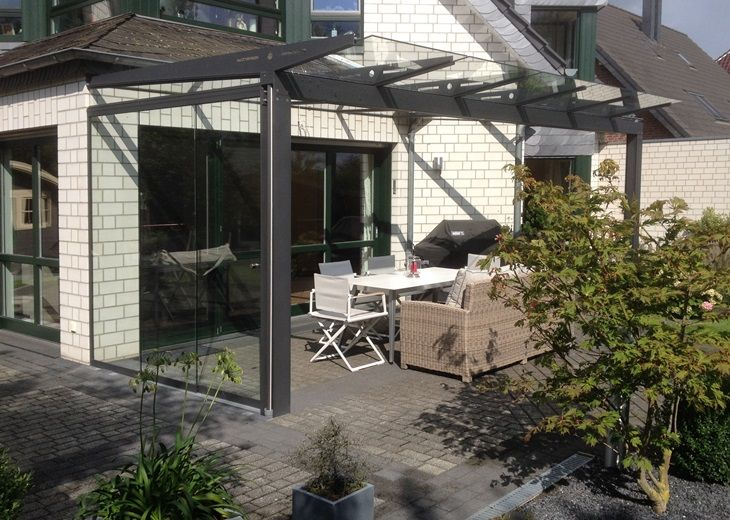 Glasdach Terrasse Leiner Qbus Pergola Glasdach Variable