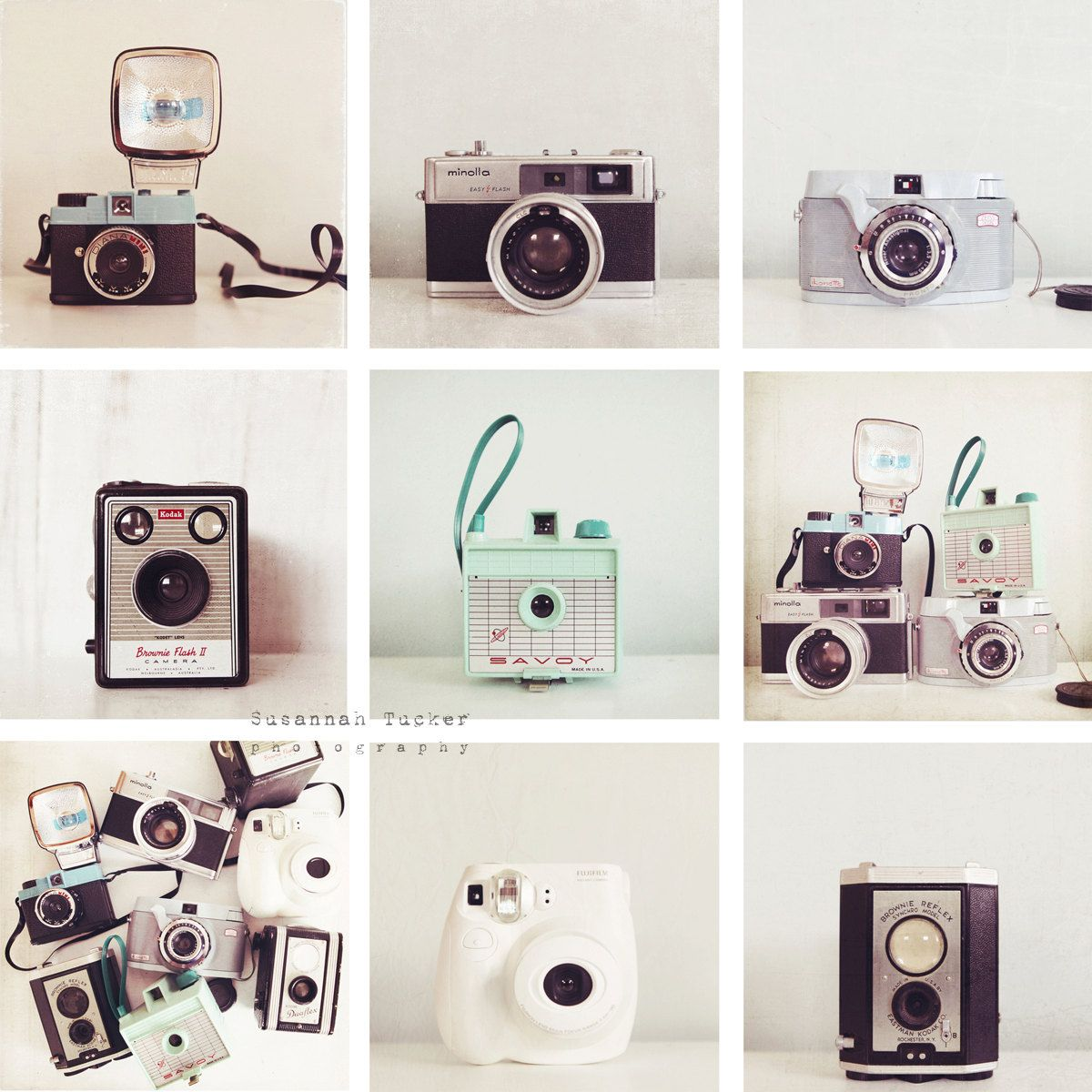 The Quirky Cameras Set Of 9 5x5 Vintage Camera Photos