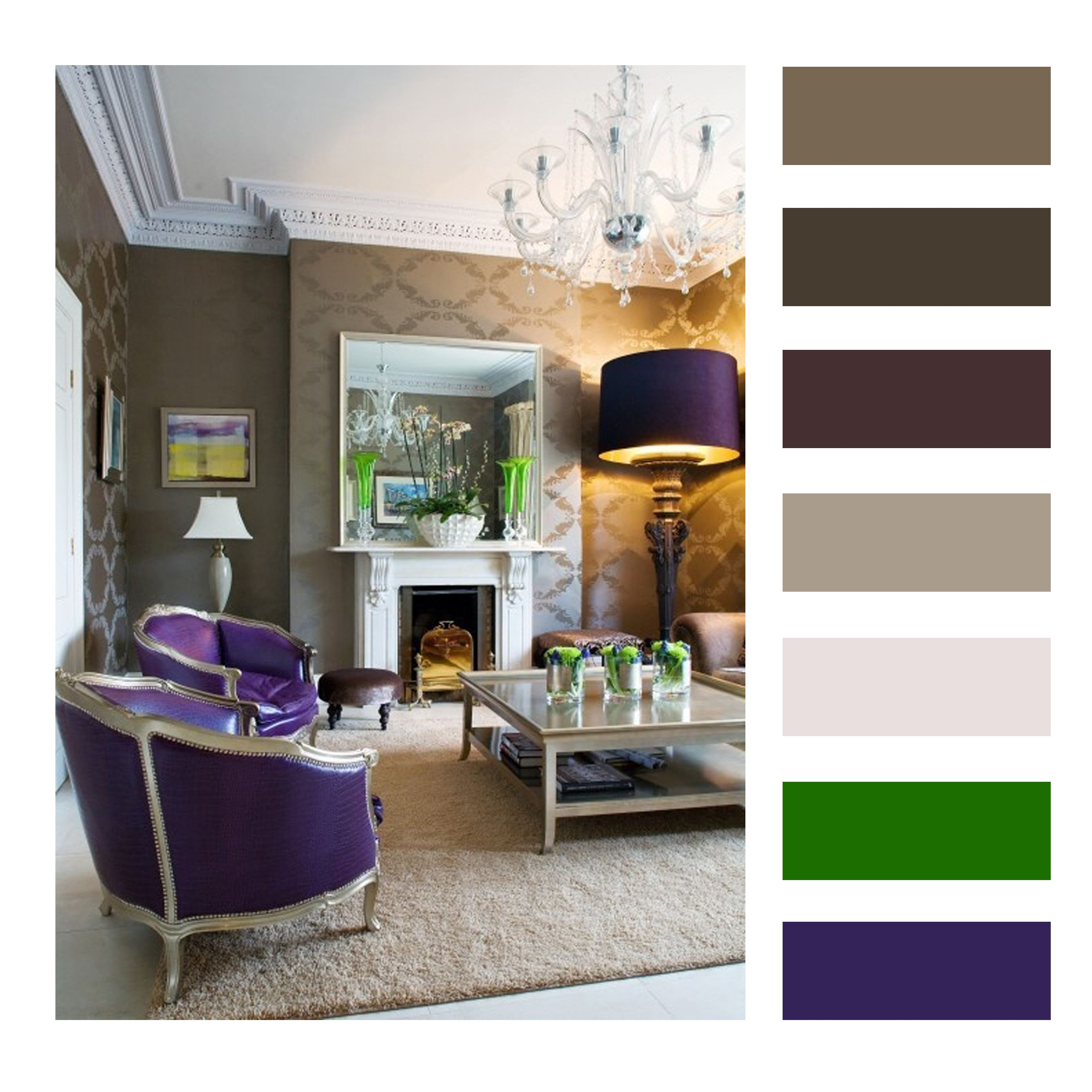 interior design color palette green and purple - Google Search ...