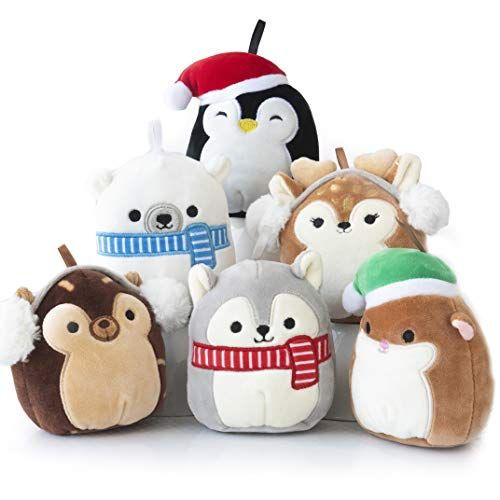 Kellytoy Squishmallows Holiday Plush Ornament Set 5 Inche Https Www Amazon Com Dp B07ytmwjwp Christmas Plush Animal Pillows Christmas Decorations Bedroom