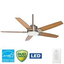 """View the Casablanca 59109 Zudio 56"""" 5 Blade Energy Star Ceiling Fan - LED Light Kit, Blades, and Wall Control Included at LightingDirect.com."""