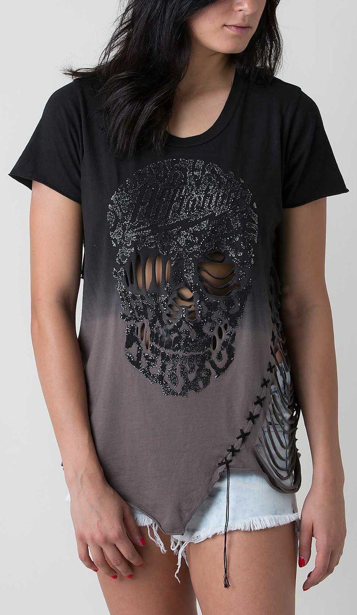 affliction rock n skull t shirt womens tops shirts. Black Bedroom Furniture Sets. Home Design Ideas