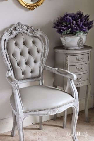 Painted Upholstery And Vinyl Chairs With ASCP Chalk Paint