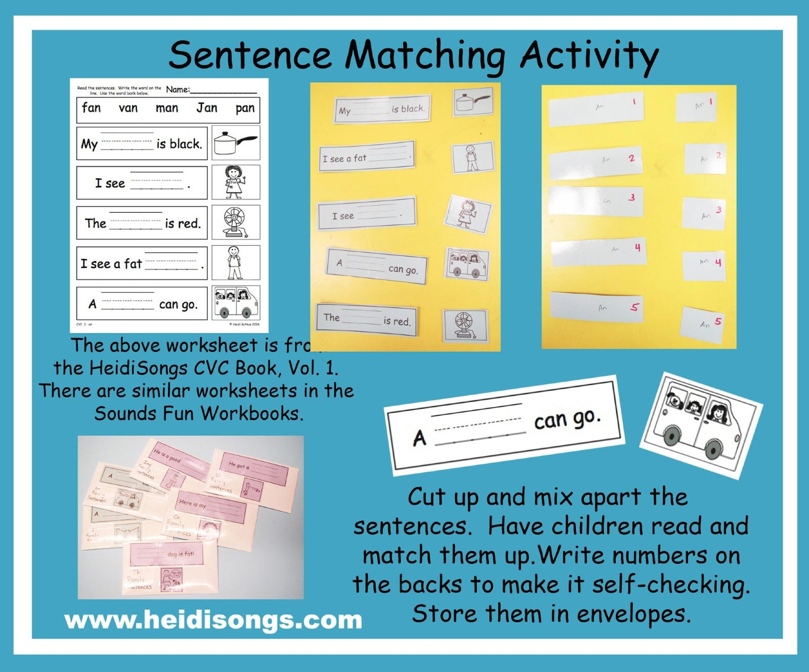 Heidisongs Resource Common Core Literacy Centers How To Create A Manipulative Out Of A
