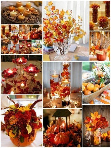 10 idées maîtresse de mariage d'automne par HotRef.com #fallwedding #weddingcenterpi …