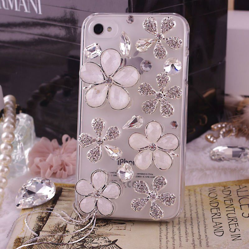 buy online 5d7e2 184f6 tassel flower rhinestone design your own cell phone case for iphone ...