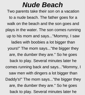 Nude beach wife story