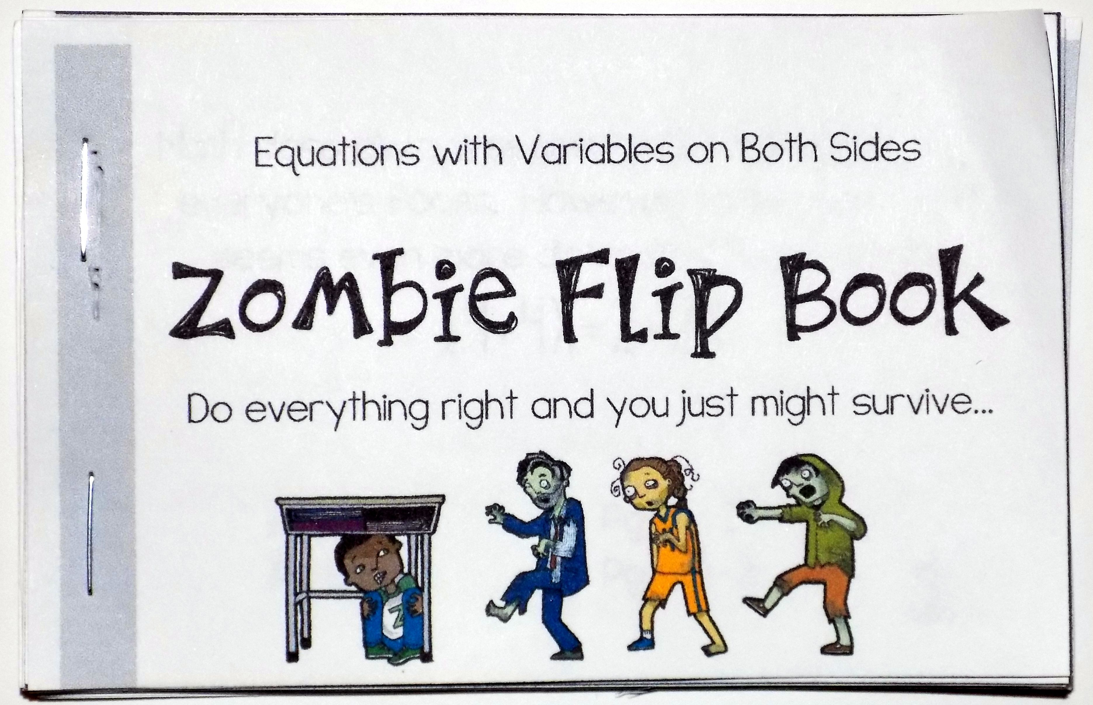 This Equations With Variables On Both Sides Zombie Flip