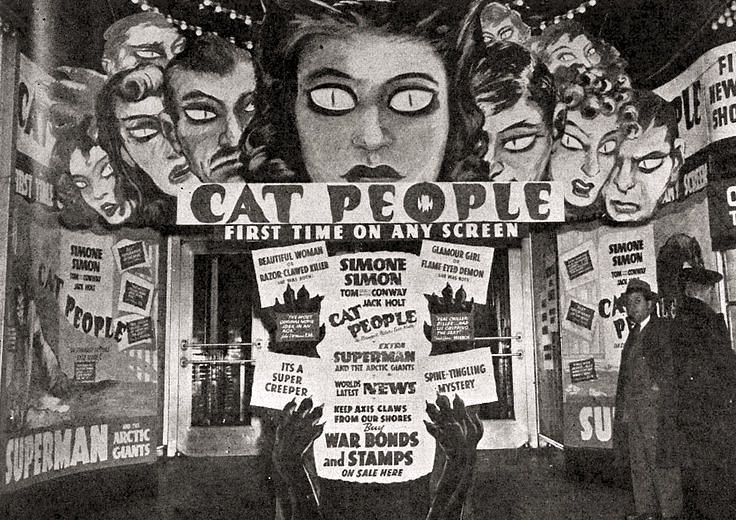 Movie Theatre Cat People Display (1942) (With images