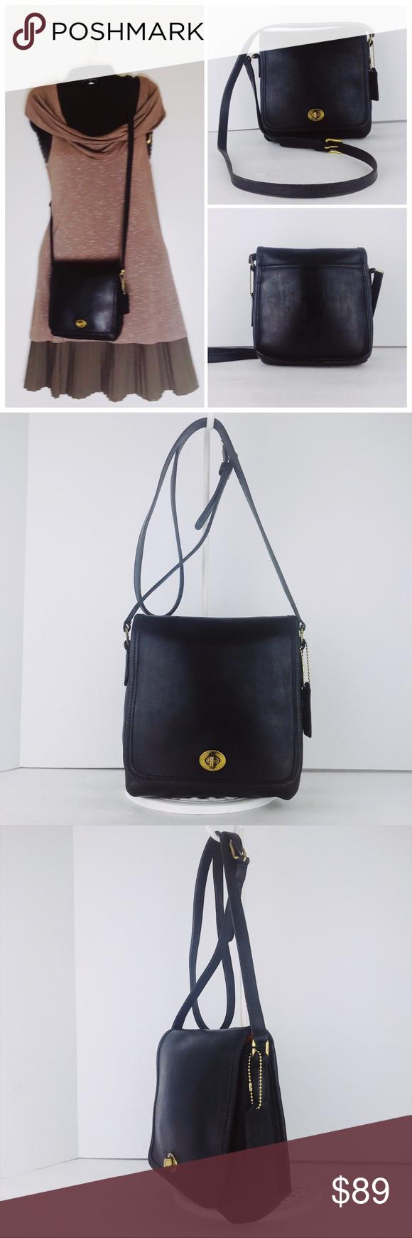 90254c480b 👛Coach Vintage Leather Companion Crossbody Bag Coach Companion Flap