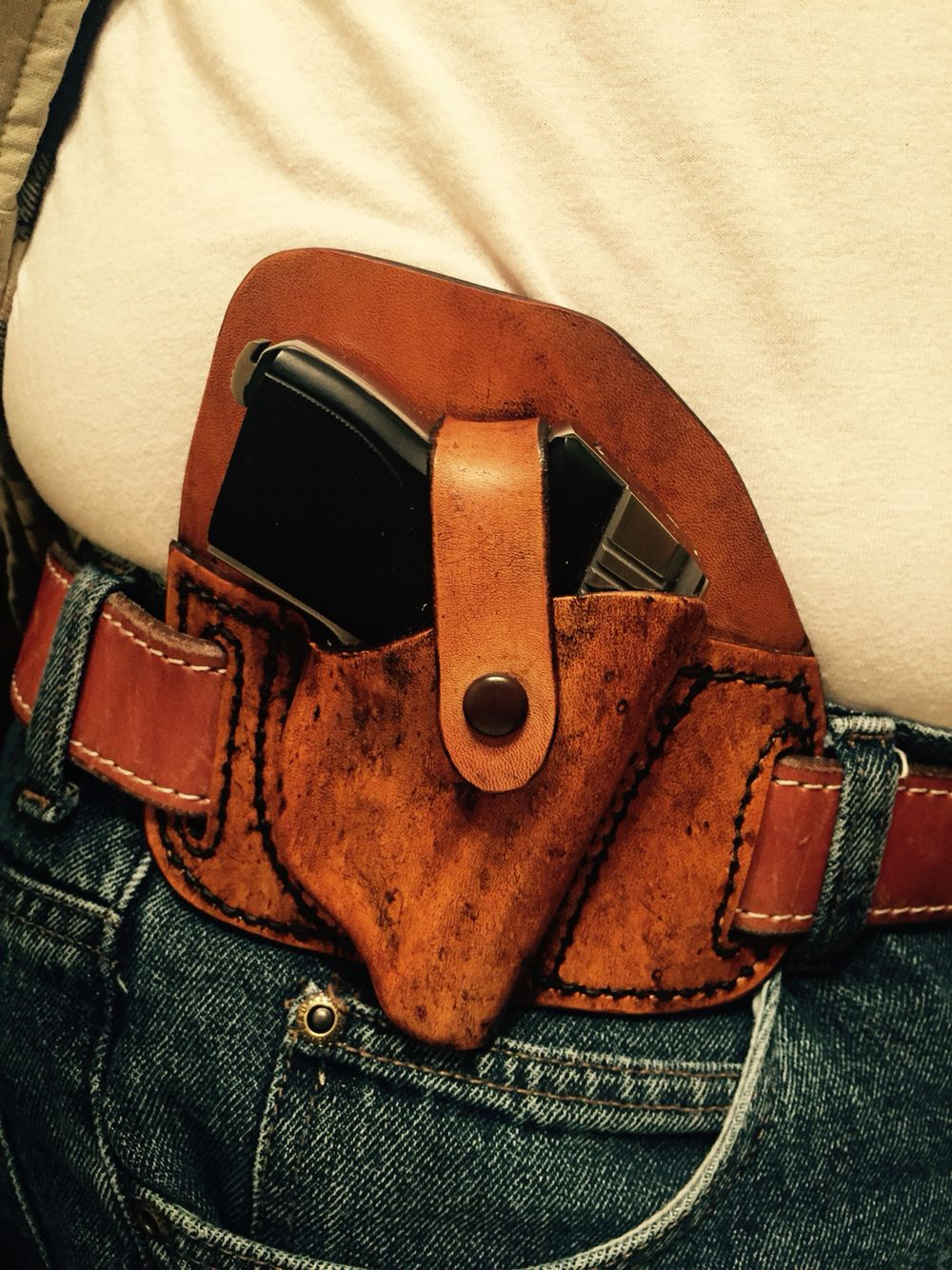 Holster by Mike Ragonese for Seecamp 32 Antique finish on