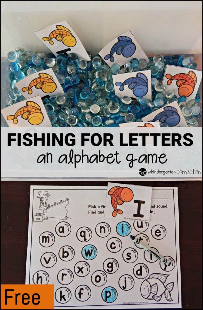 Fishing for Letters! An Alphabet Game Alphabet games