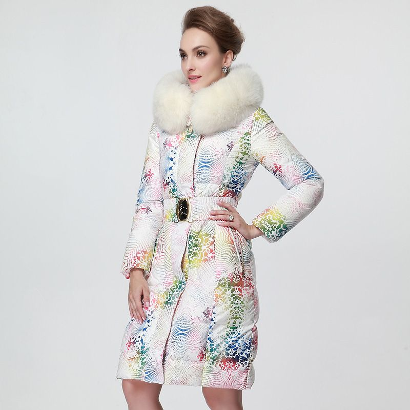 Plus size Fox fur Hooded Goose down coat  Winter Jacket Women Down jackets $292….