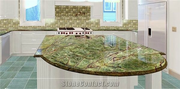 Rainforest Granite Kitchen - Kitchen Design Ideas