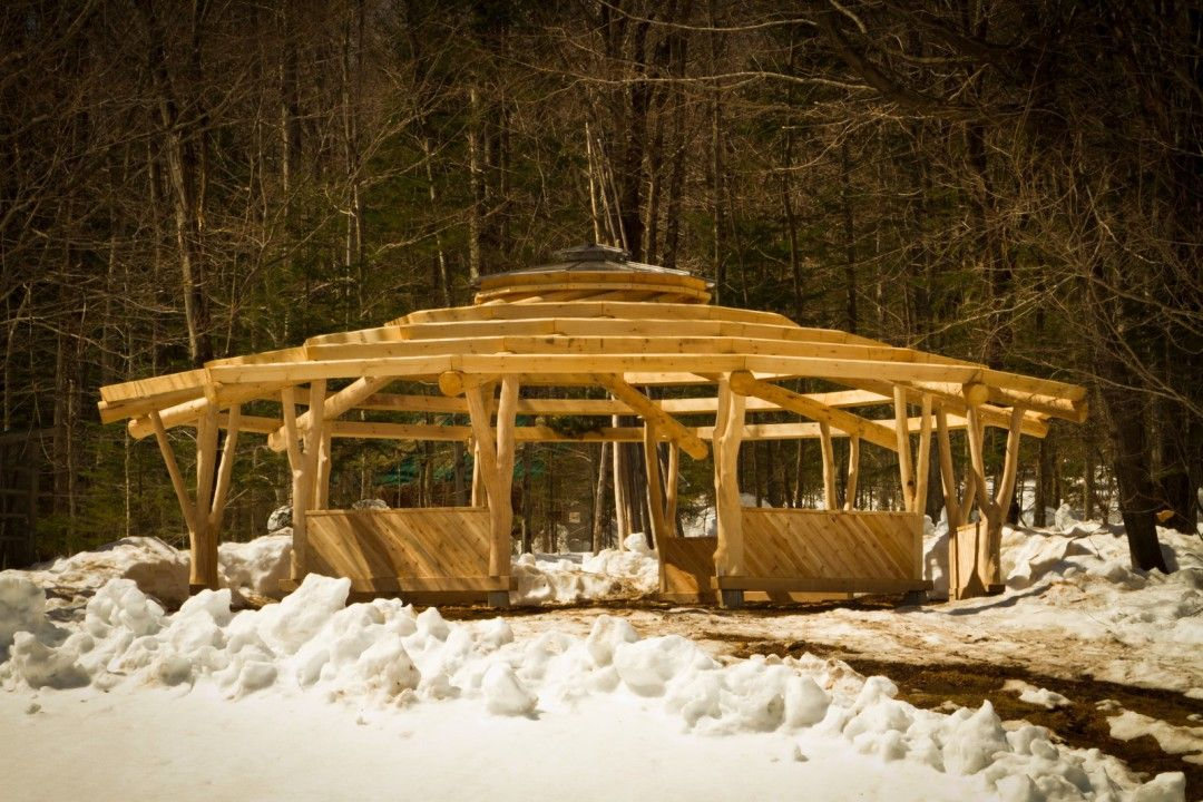 how to build a reciprocal roof