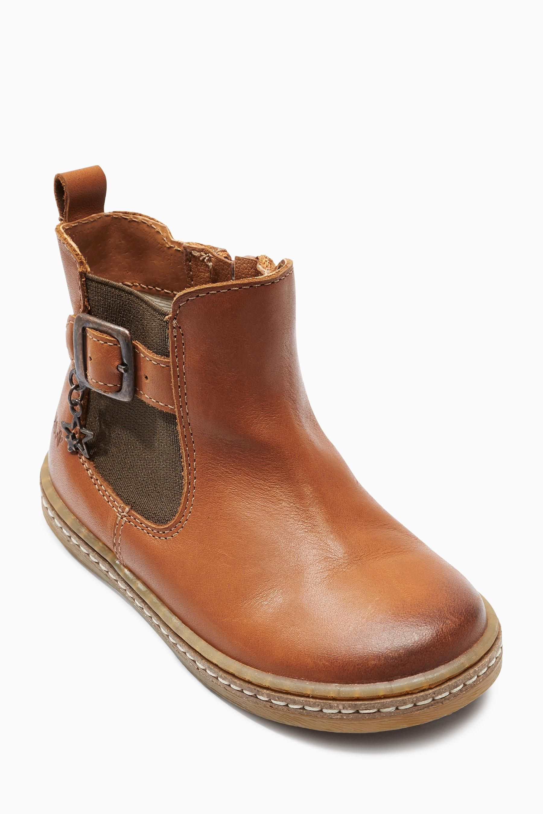Buy Tan Chelsea Charm Boots (Younger