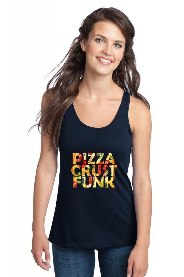 pizza crust punk peppperoni funny Racerback Tank