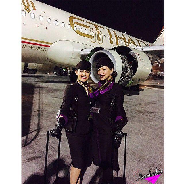 Etihad flight attendants, beautiful ! Photo #Aerolinda - air canada flight attendant sample resume