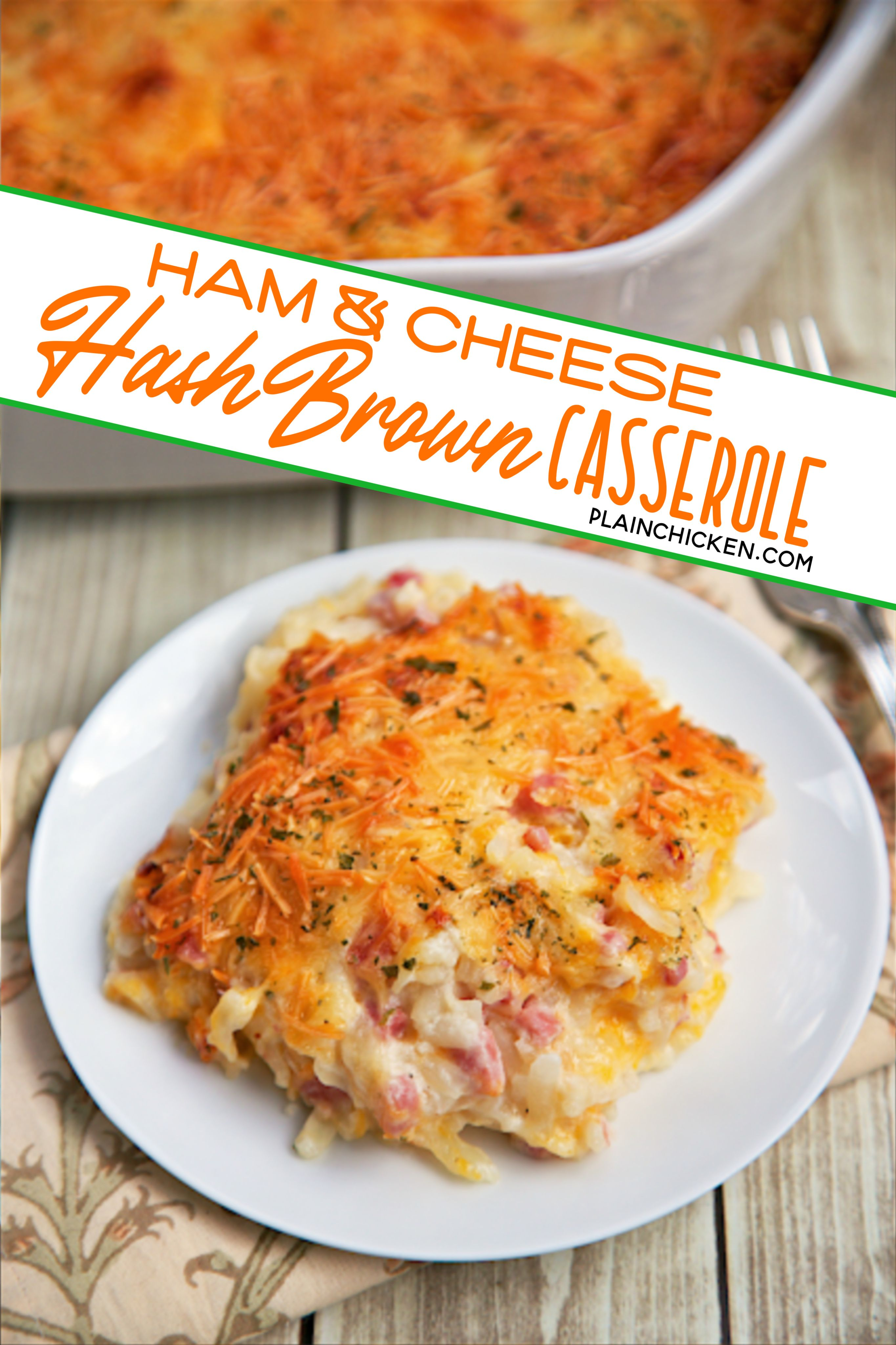 Ham And Cheese Hash Brown Casserole In 2020 Ham And Cheese Ham And Hashbrown Casserole Ham Casserole Recipes