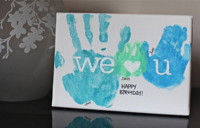 Handprint Canvas I Absolutely Love This One Fathers