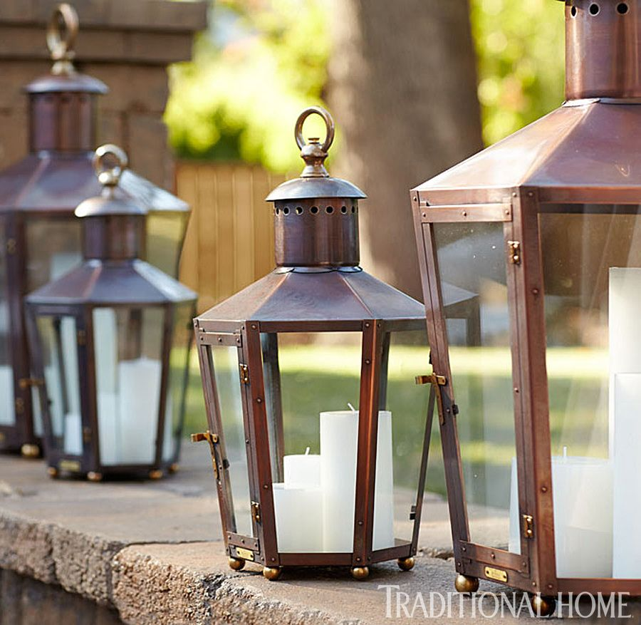 Napa Valley Showhouse 2013 Copper lighting, Lanterns