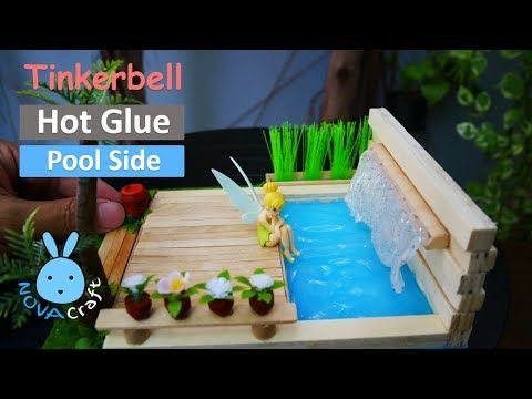 Diy Hot Glue Waterfall Tutorial How To Make Diy Waterfront House
