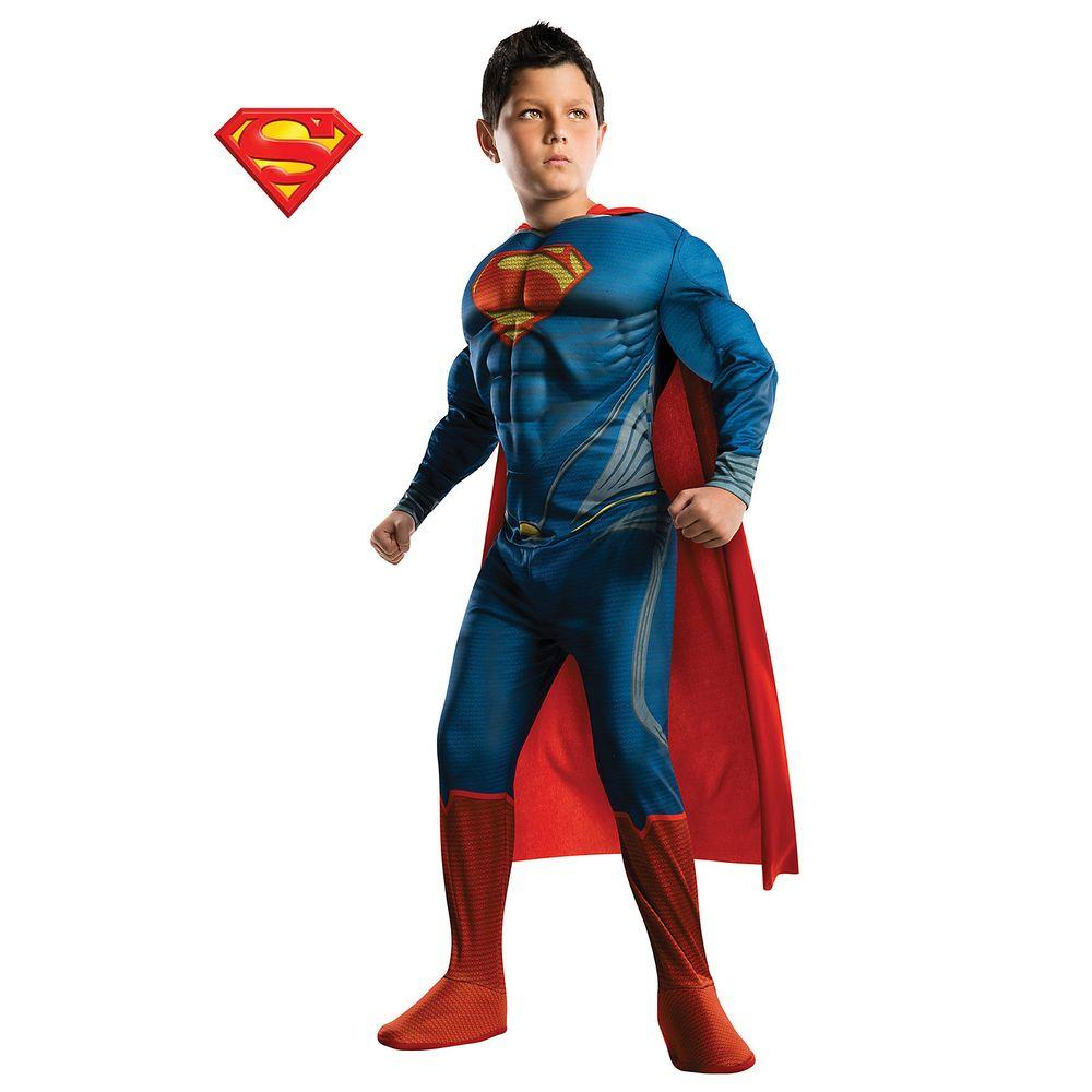 Childrens Fancy Dress Costume for Boys NEW Muscle Superman