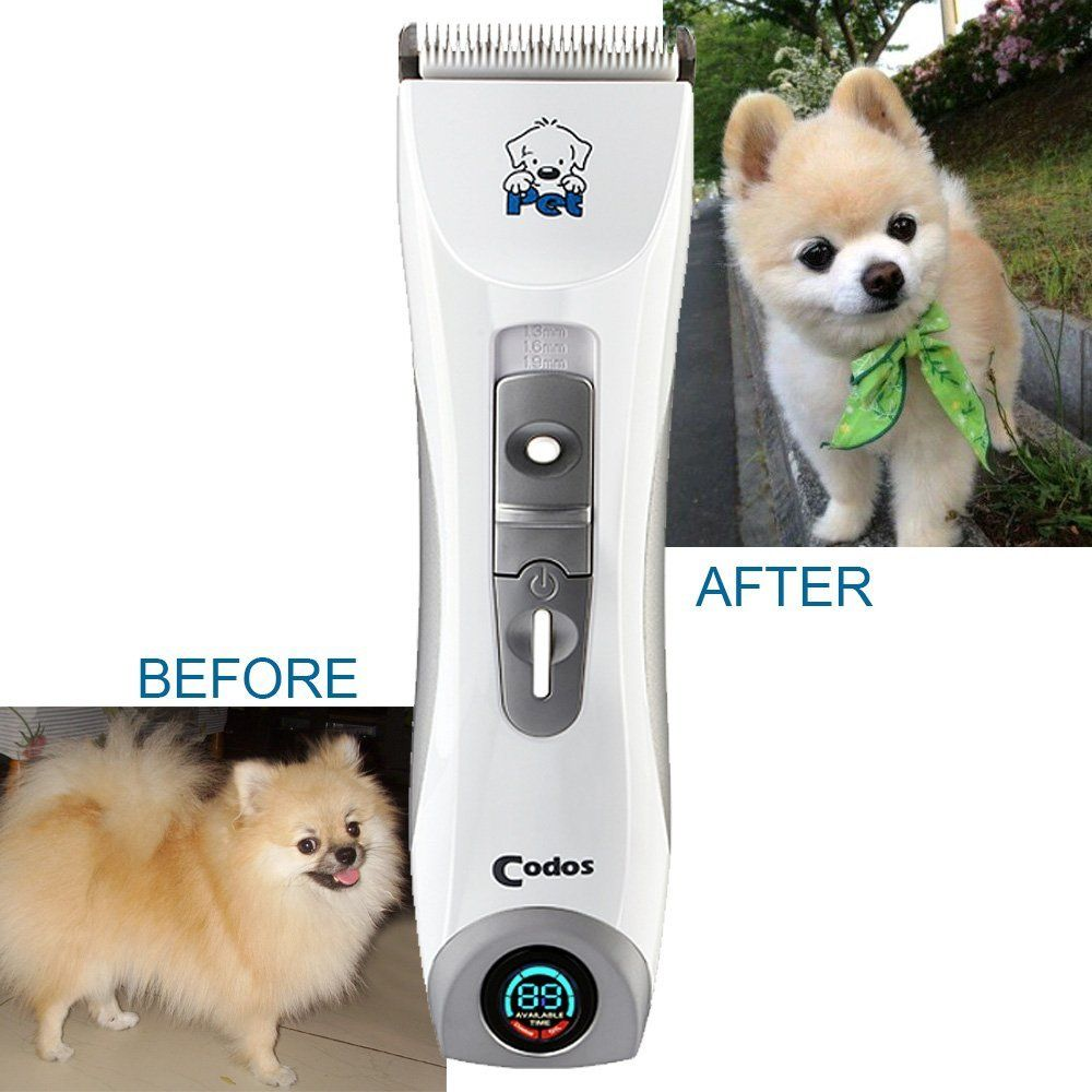 Codos Professional Rechargeable Cordless Pet Dog Grooming Cipper Kits Hair Trimmers Electric Shaver With Lcd Display Screen In 2020 Dog Grooming Grooming Tender Care