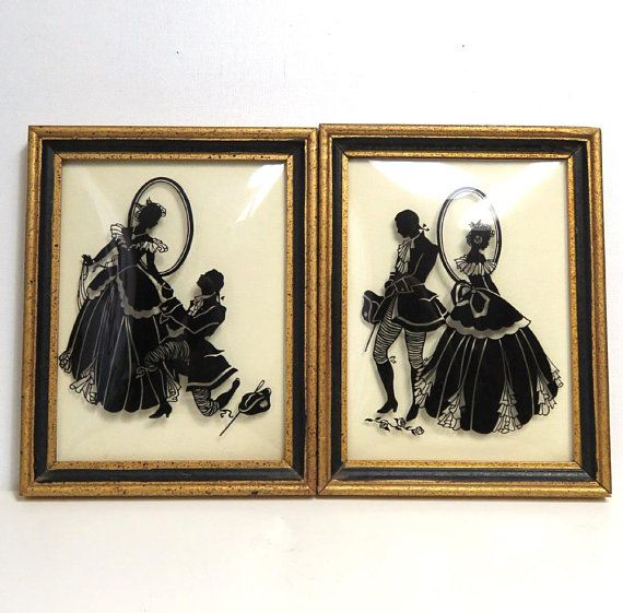 Courting vintage couple art wall