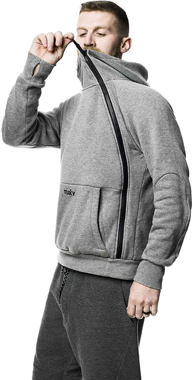 Tuxy The World S Best Onesie Xs Grey At Amazon Men S Clothing Store Hoodie Fashion Onesie Grey Athletic Jacket [ 1500 x 763 Pixel ]