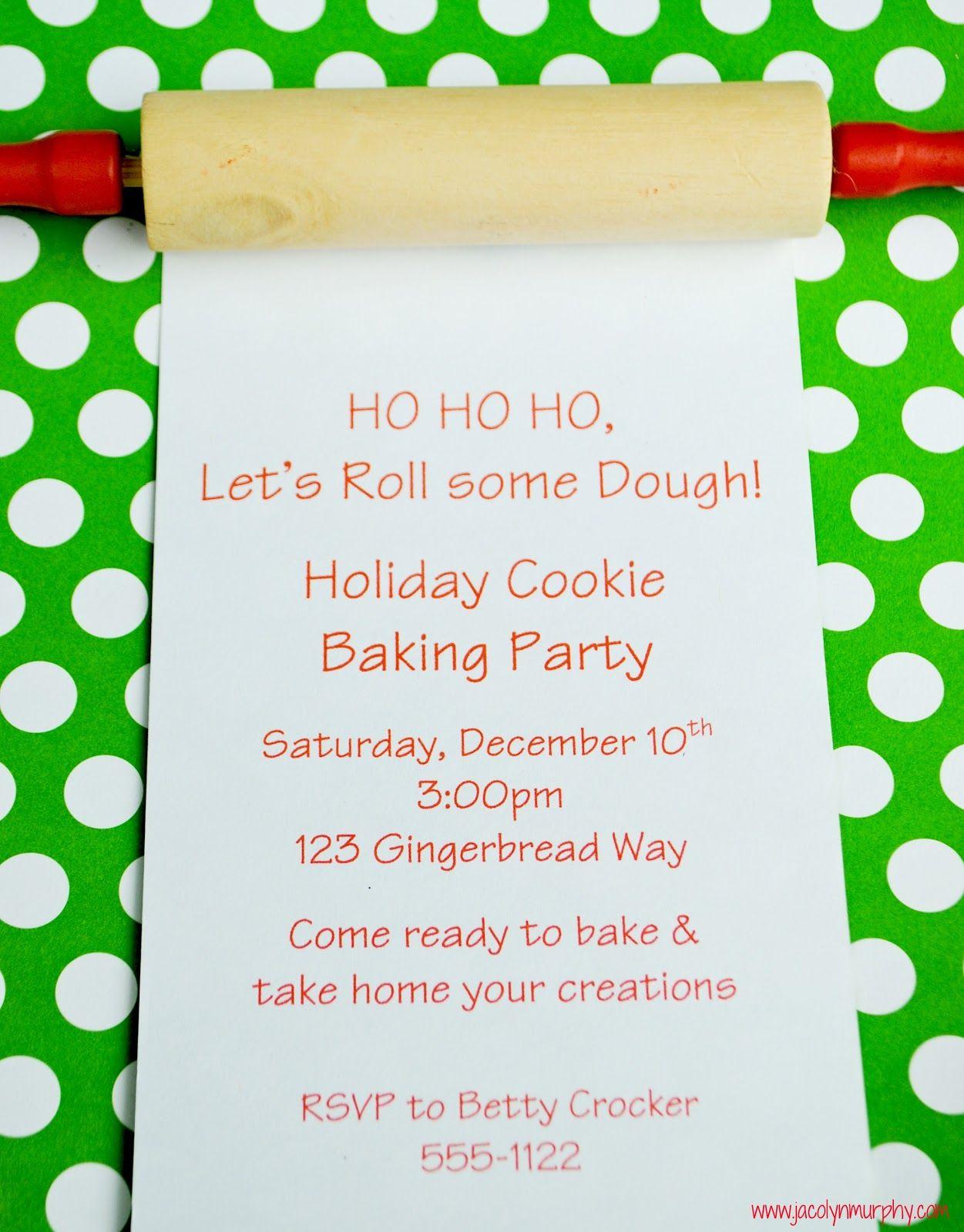 Dough Dough Dough...Happy Holiday Baking! | Invitation ideas ...