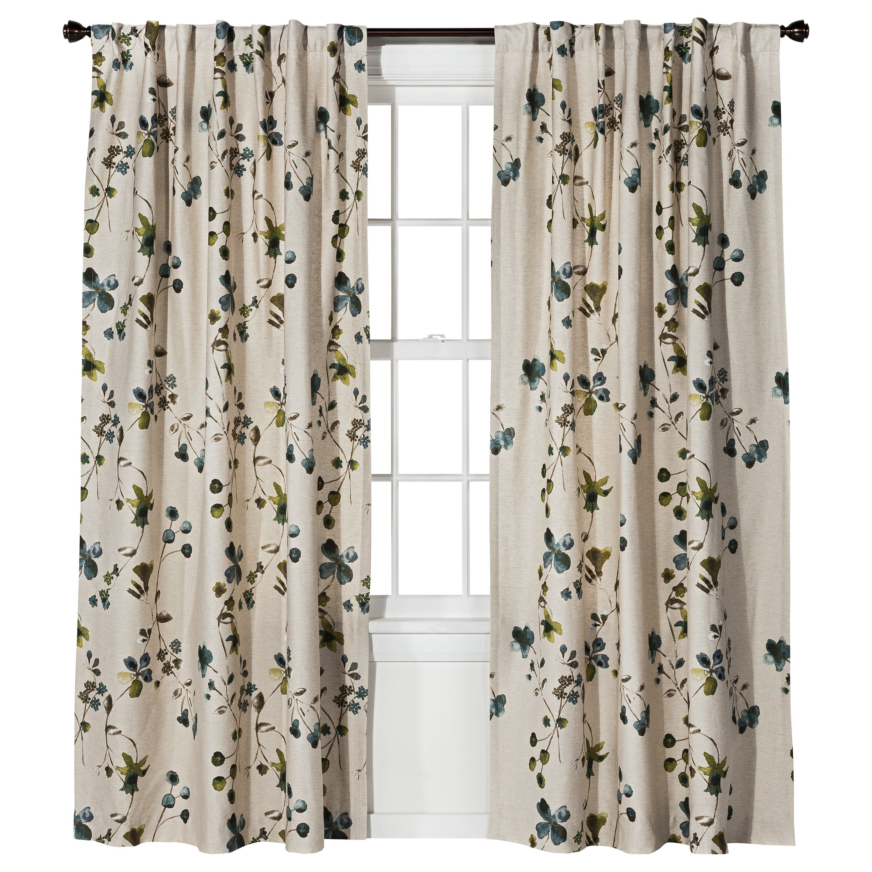 Threshold Watercolor Floral Window Panel Target Curtain??