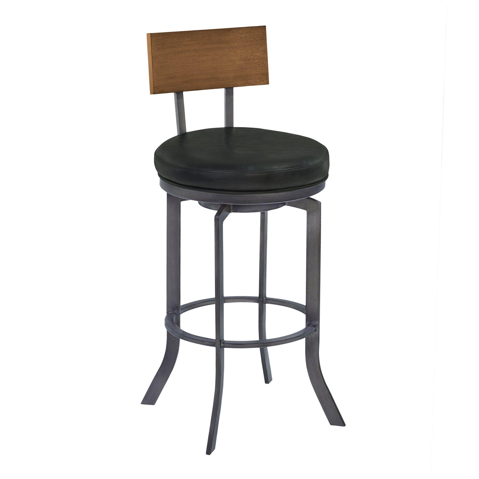Excellent Armen Living Lcojbavb30 Ojai 30 Bar Height Metal Swivel Theyellowbook Wood Chair Design Ideas Theyellowbookinfo