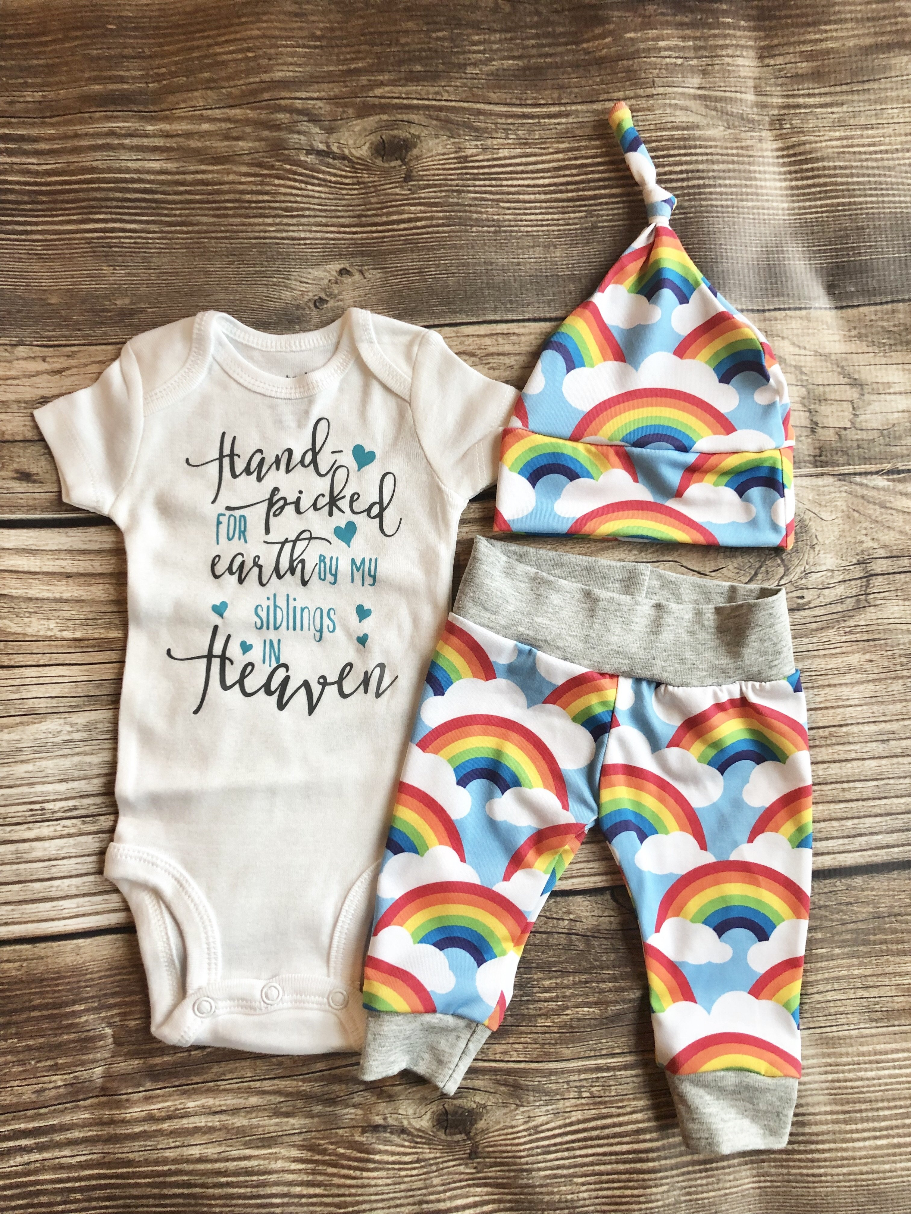 Mother/'s Day 100/% Cotton Baby Rainbow Baby Bodysuit  Rainbow Baby Bodysuit  Baby Shower Gift  Pregnancy Announcement  Baby After Loss
