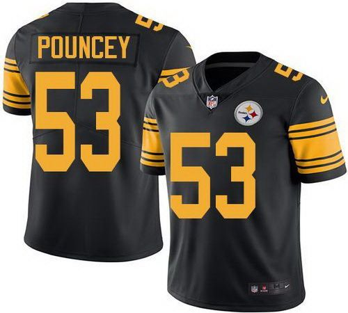 ... Nike Steelers 53 Maurkice Pouncey Black NFL Limited Rush Jersey