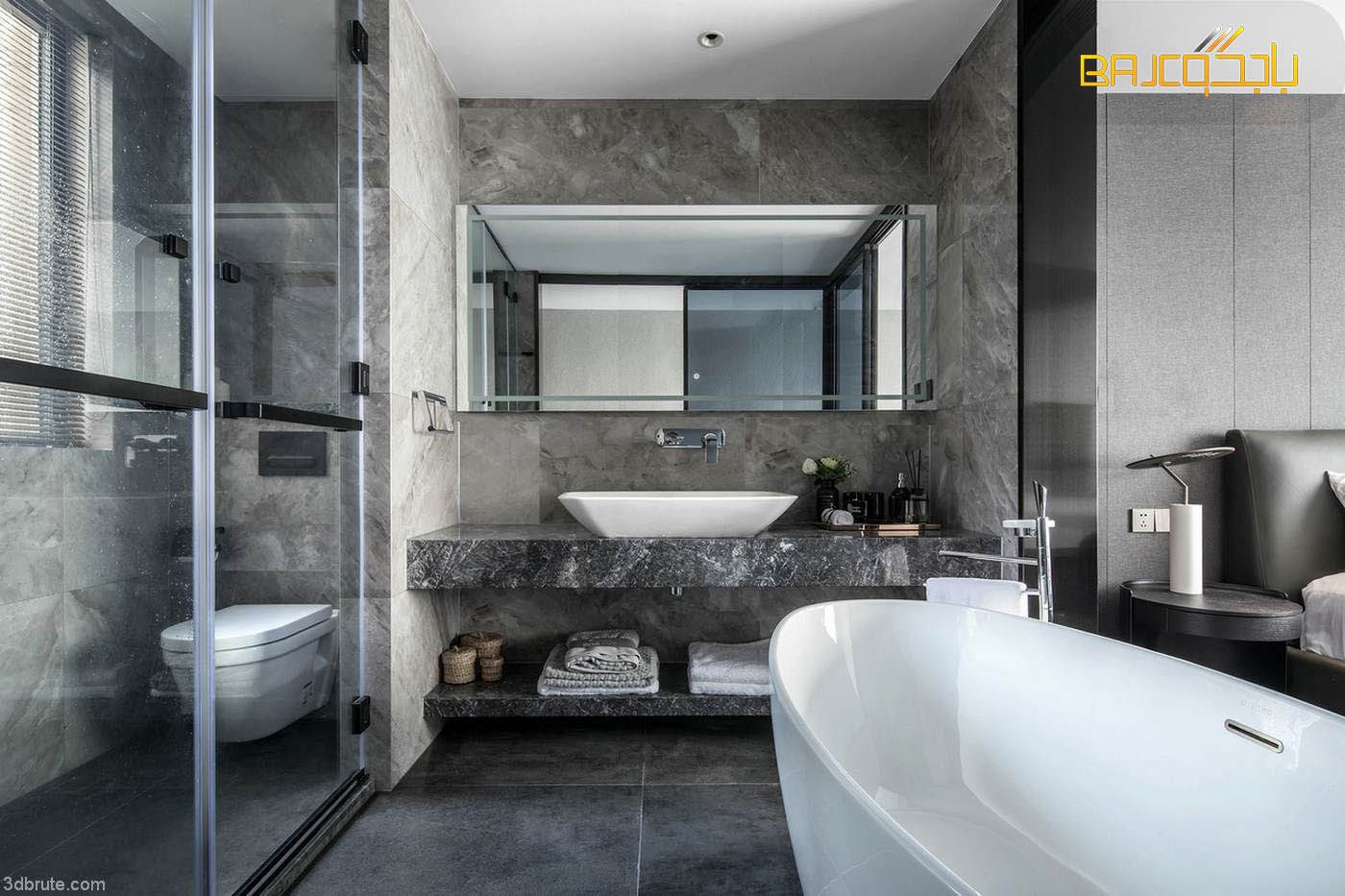 مغاسل حمامات Marble Bathtub Bathroom