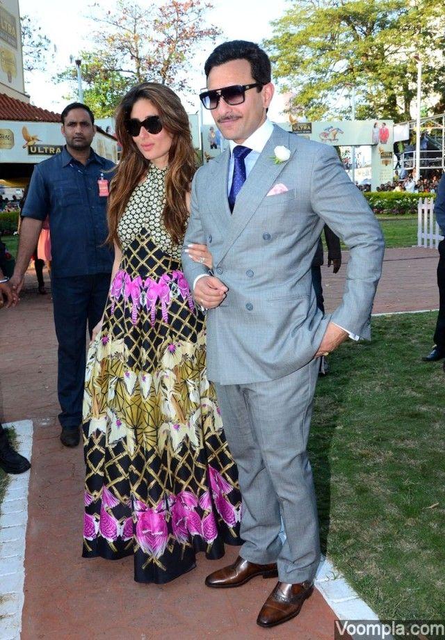 4f5a5770752db Stylish couple Kareena-Saif at Kingfisher Ultra Indian Derby races ...