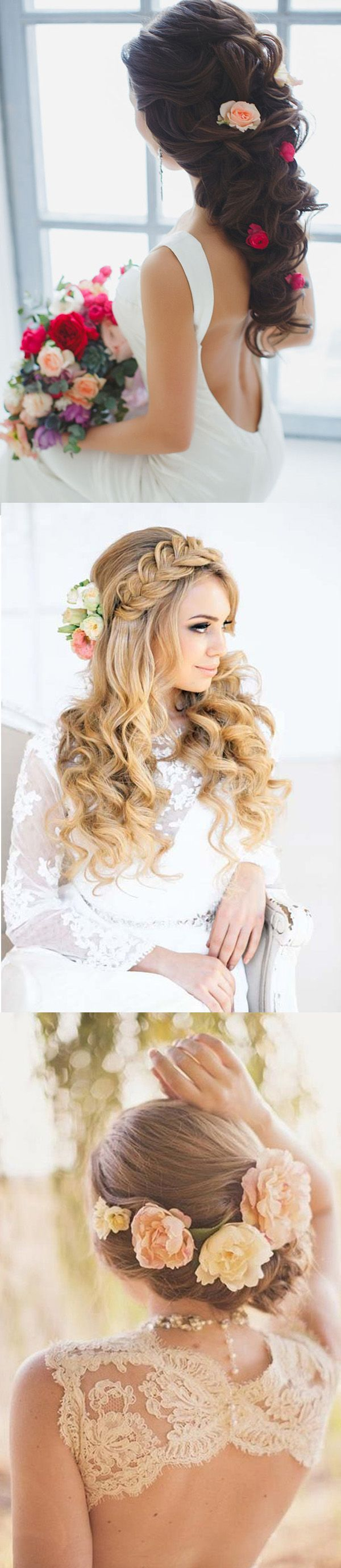 beautiful wedding hairstyles with flowers for brides