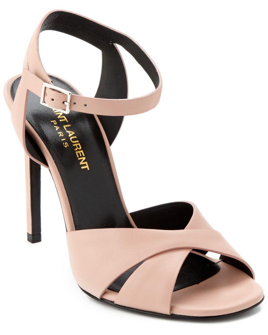 Saint Laurent Criss Cross Mid Heel Sandal is on Rue. Shop it now ...