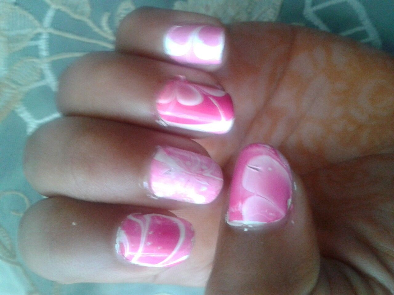 Water marble nails that i did by myself nails pinterest water marble nails that i did by myself solutioingenieria Gallery