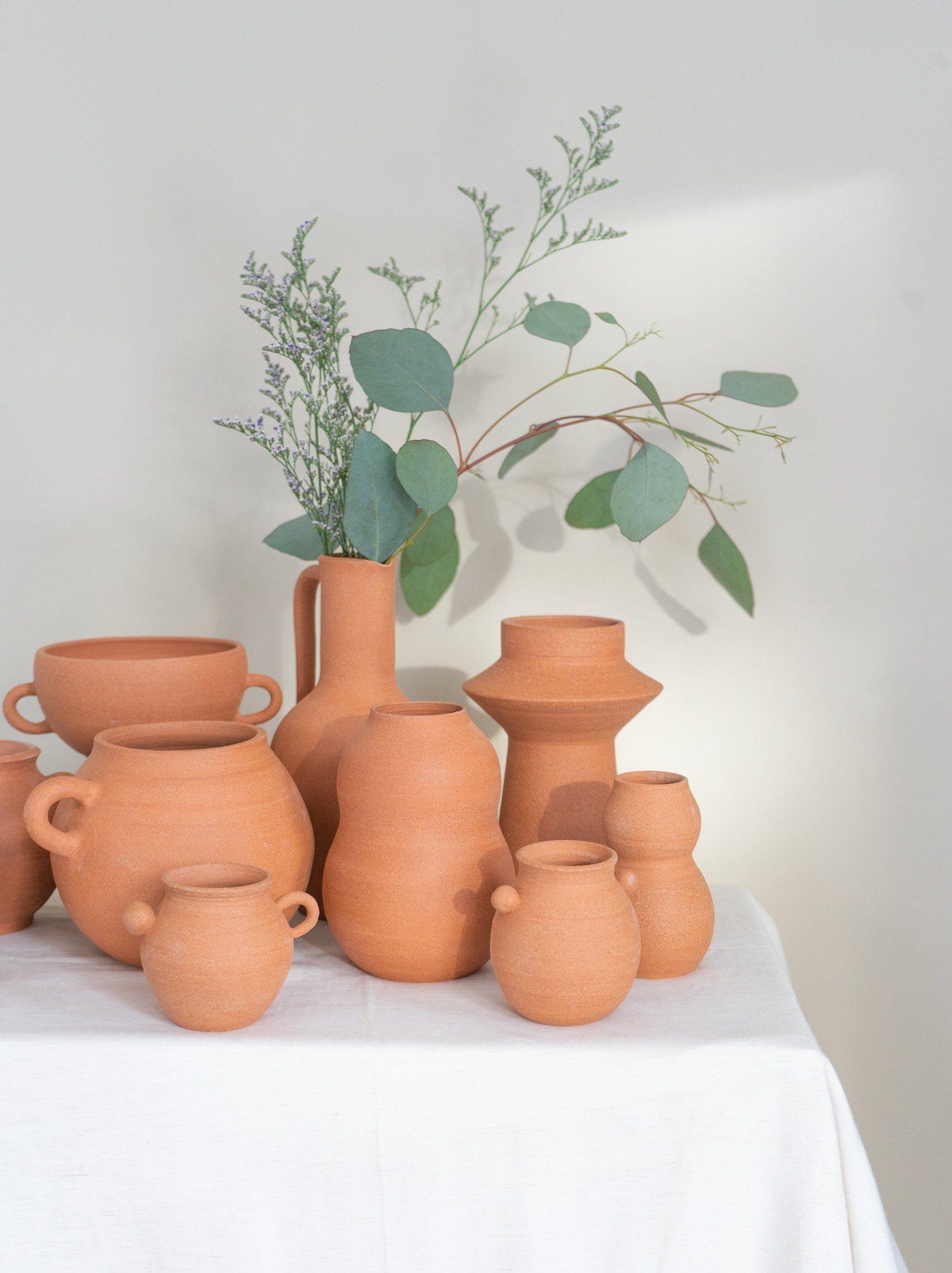 Natural Clay Rustic Home Decor Stoneware Vase