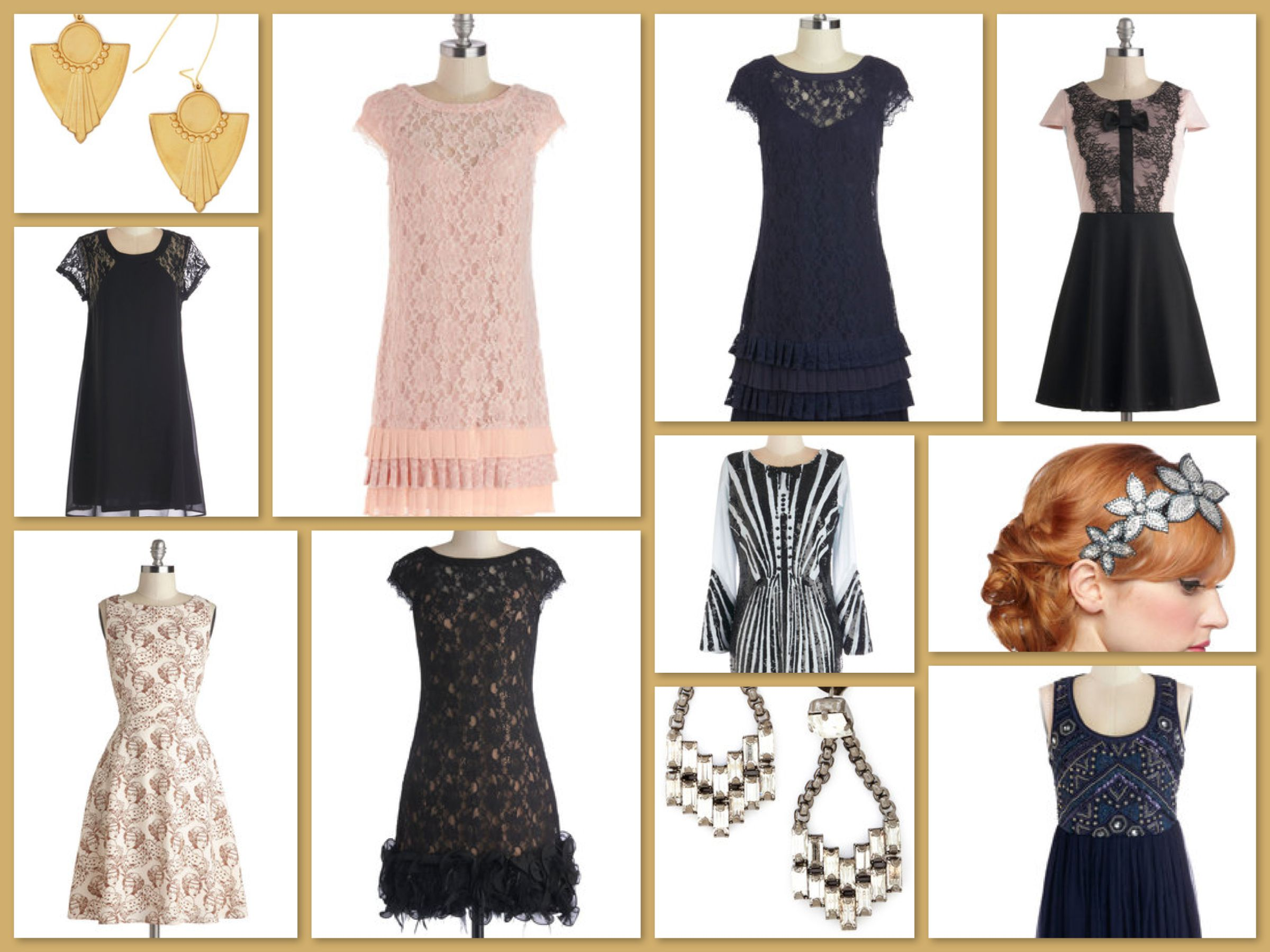 New Year's Eve Great Gatsby Roaring 20s Party Dresses