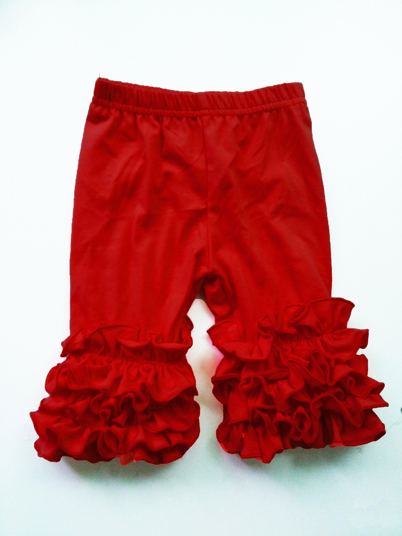 0e91934f7a1b5 Ruffle Capris Girls Clothing Red, Yellow, Little Girls Ruffle Toddler Icing  Capris Layering Pants Ruffle Leggings Toddler Capri Pants