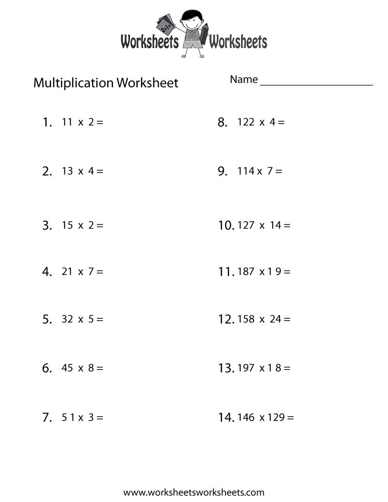 Worksheets Science Worksheet 6th Grade multiplication problems worksheet free printable educational worksheet