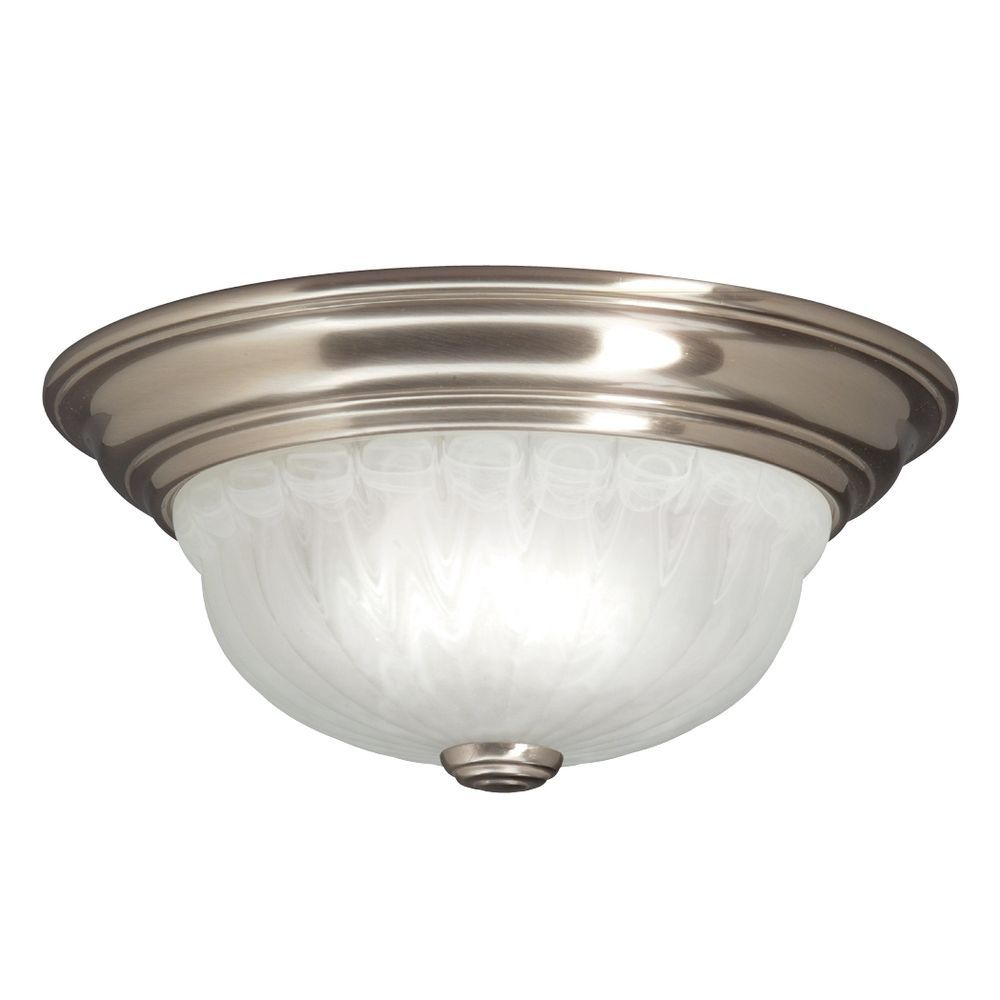 Wonderful Flush Mount Ceiling Light with Glossy Base and Clear Shade ...