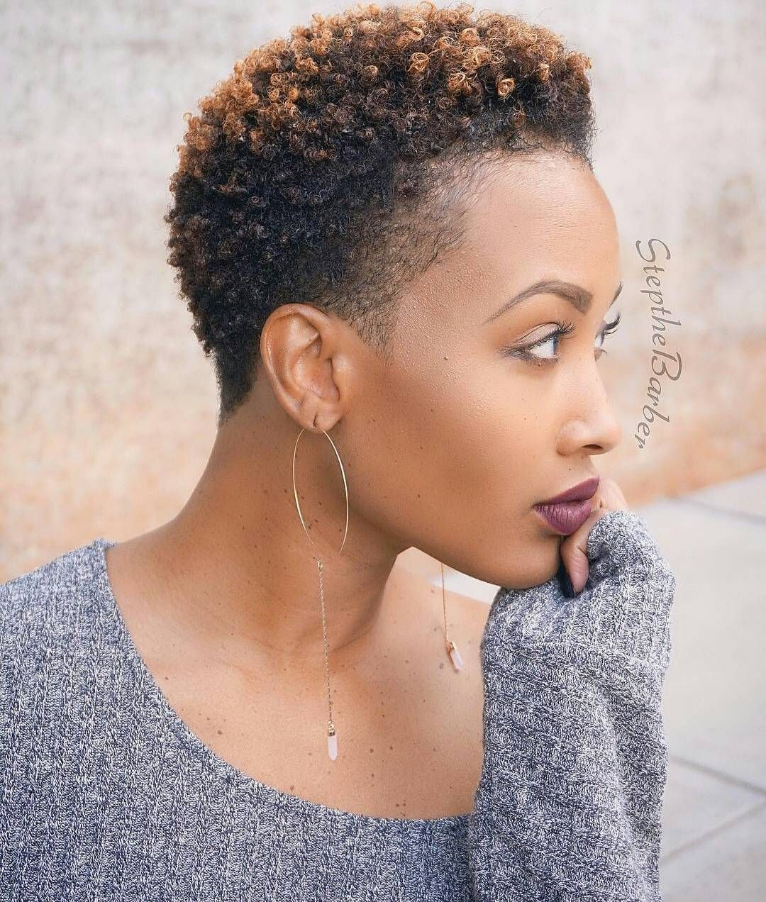 Uncategorized short gray african american hairstyles 4 tight curls short hairstyle 2013 - One Of The Most Popular Style Options For A Twa Is A Tapered Fro Here Are 20 Of The Best Tapered Short Natural Hairstyles