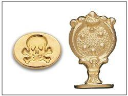 Wax Seal Skull & Crossbones- Brass handle Stamp