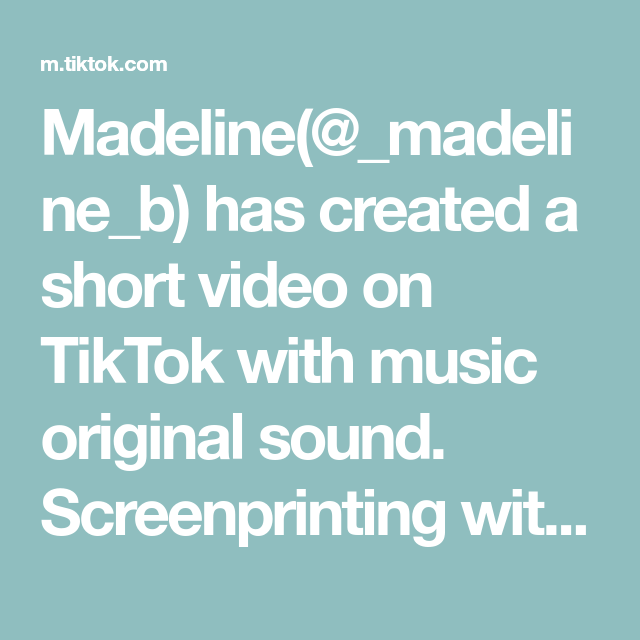 Madeline Madeline B Has Created A Short Video On Tiktok With Music Original Sound Screenprinting With Yo Personalized T Shirts Custom Tshirts The Originals
